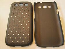 Brown Diamond Bling Designer Hard Plastic Samsung Galaxy S3 SIII i9300 Case