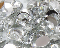 1000 Clear Crystal Flat Back Nail Art Rhinestones Gems 2MM-6MM Glitter Beads