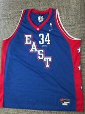RARE PAUL PIERCE 2004 ALL STAR GAME EAST  34 SEWN NIKE BLUE BASKETBALL f00857f51