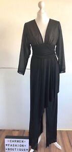 VINTAGE ROLAND KLEIN FOR MARCEL FERNEZ BLACK COCKTAIL DRESS UK12 FITS LIKE UK6-8
