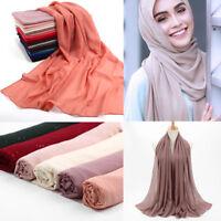 Fashion Women Bubble Chiffon Muslim Islamic Hijab Scarves Lady Wrap Shawl Scarf
