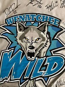 WENATCHEE WILD 2014-2015 GAME WORN JERSEY - Signed by Team