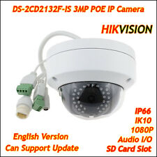 Hikvision DS-2CD2132F-IS 3MP Network IP Camera POE Dome Audio Outdoor SD CCTV HD