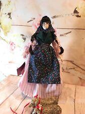 Vintage Schmid Doll House Lamb Maid, porcelain doll