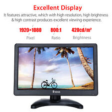 "Eyoyo 12"" HD 1920x1080 IPS LCD Screen HDMI Monitor Audio Video Display with BNC"