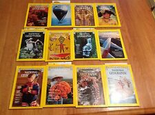 1977 National Geographic Magazine With Maps Complete Year 12 Issues