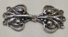Hook & Eye closure clip sew-in fastener clasp cardigan sweater cape knit silver