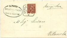 P6214   Vicenza, Quinto Vicentino, annullo quadrato 1894
