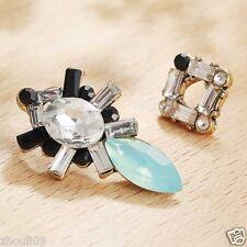 Wholesale 1pair Woman's Green Crystal Rhinestone Long Ear Stud Hoop earrings 104