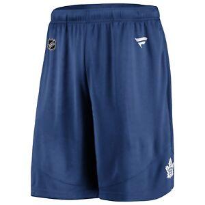 Men's Fanatics Branded Blue Toronto Maple Leafs Authentic Pro Rinkside Shorts