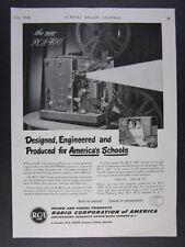 1948 RCA 400 16mm Film Projector vintage print Ad
