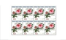 Papua New Guinea 2009 - Peony Flower Sheet of 8 Stamps MNH