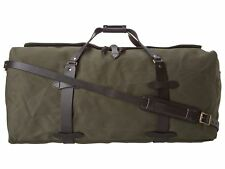 Filson Duffle Bag Large Style 70223 Cotton Leather Otter Green