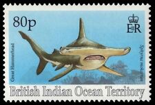 BR INDIAN OCEAN 161 (SG165) - Great Hammerhead Shark (pa16258) BIOT