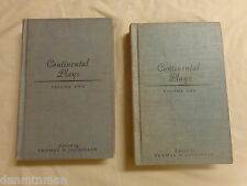 Continental Plays Edited by Thomas H Dickinson Two Volumes (1935, Hardcover)