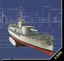 British Royal Navy HMS M15 M15-class monitor DIY Handcraft Paper Model Kit 1:100