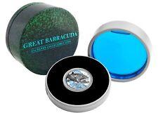 Ocean Predators - Barracuda  - 2015 Niue 1 Oz Silver Coin