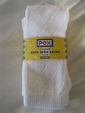 Chicas Senior rodilla alta calcetines Pelerín blanco tamaño 7-11 Por Pex 2 Par Pack-Nuevo