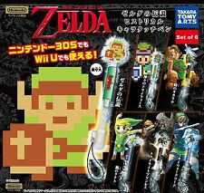 The Legend of Zelda set of 6 DS stylus touch pen strap NEW *UK SELLER*