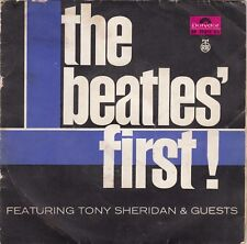 """THE BEATLES FIRST WITH TONY SHERIDAN UNIQUE LABEL 1967 RECORD YUGOSLAVIA 7"""" PS"""