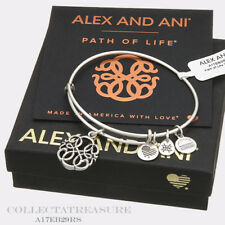 Authentic Alex and Ani Path Of Life (iv) Rafaelian Silver Charm Bangle
