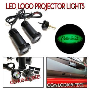 Lumenz C3 LED Courtesy Logo Lights Ghost Shadow for Peterbilt 100648 Green