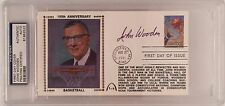 John Wooden Signed First Day Cover 100th Anniversary Cache *UCLA Bruins PSA