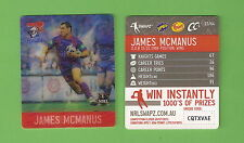 #D537.  NRL 2011 RUGBY LEAGUE TAZO #23  JAMES McMANUS, NEWCASTLE KNIGHTS