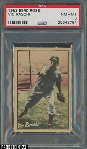 1952 Berk Ross Vic Raschi New York Yankees PSA 8 NM-MT