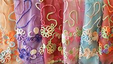 Joblot 24 pcs Mixed colour  Lace Scarf  NEW wholesale 180x40 cm Lot 65