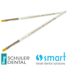 Lot x 2 Schuler Dental Lab ceramic Opaque brush Synthetic hair Germany 4