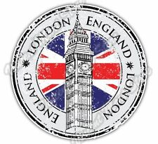 London England Country Flag Stamp Car Bumper Window Vinyl Sticker Decal 4.6""