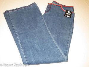 C'EST TOi  LVLX Level10 size 11 Juniors women blue red stitch Denim jeans NWT#