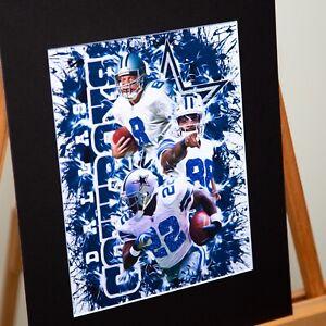 Dallas Cowboys - Troy Aikman #8 Emmitt Smith #22 M. Irving #88 - The Triplets