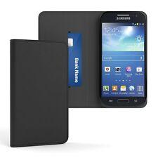 Tasche für Samsung Galaxy S4 Mini Cover Handy Schutz Hülle Case Etui Schwarz