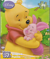"Jigsaw Puzzle Disney Winnie The Pooh - Hugs Oval Shaped 24 pieces 10"" x 9"""
