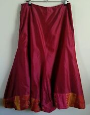 A-Line 100% Silk Skirts for Women