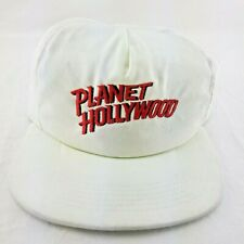 Vintage Planet Hollywood Strapback Hat Cap White Red