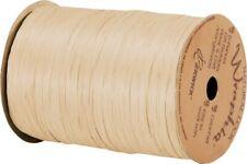 "74900-86 Matte Ivory Wraphia Ribbon 1/4"" x 100 Yards"