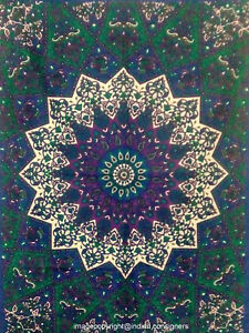 Small Tapestry Star Mandala Flower Design Wall Hanging Indian Poster Table Cover