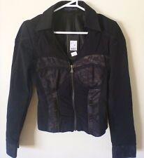ROSSODISERA Black Corset Look Blazer Casual Jacket Elegant Outwear IT42 S/M