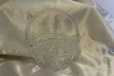 Vintage Hofbauer Bride Wedding Basket Crystal Bird on Handle Etched Byrdes 1970s