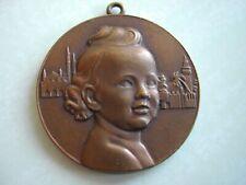 Médaille BRONZE Coloniale - Congrès de Pédiatrie - ROUSEL - ALGER - 1951 VERNON