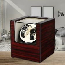 Luxury Double Automatic Watch Winder Box Display Wood Watch Organizer Case