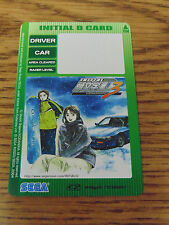 LOT OF 2 NEW SEGA INITIAL D 2 GIRLS PLAYER'S CARD FOR DRIVING ARCADE GAMES