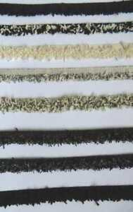 2m fancy boucle textured yarn frayed edge trimming fringe choice of colours UK
