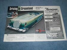 "1955 Ford Roadster Custom Led Sled Article ""Driving in Dreamland"" 53 54 56 Merc"