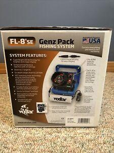 Vexilar FL-8 SE Fishfinder Genz Pack Ice Fishing Sonar w/ Transducer & Battery