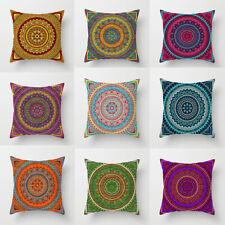 "18"" India Mandala Floral Throw Pillow Case Religious Home Decor Cushion Cover"