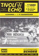 II BL 88/89 Alemannia Aachen - 1. FC Saarbrücken, 21.04.1989